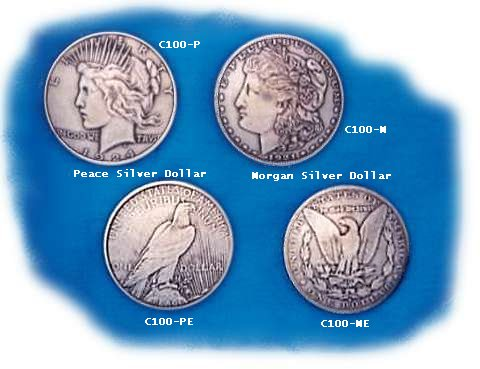 These are authentic silver dollars